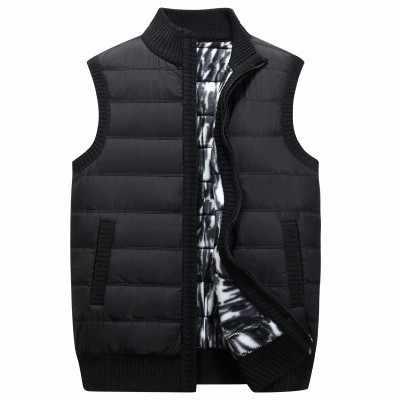 2018 Новый Для мужчин толстый жилет пальто мужской осень-зима без рукавов свитер вязаный пуховой жилет свитера куртки верхняя одежда M-3XL