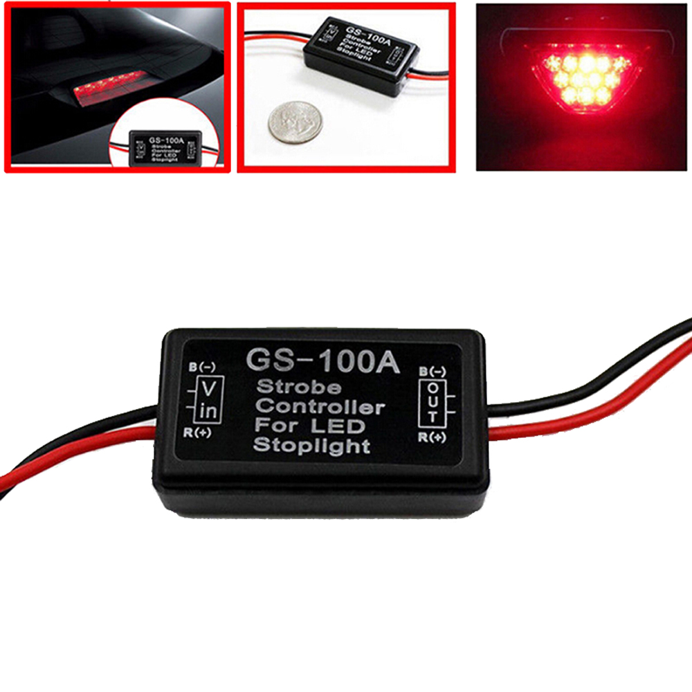 2019 New DC 12V GS-100A Flash Strobe Controller Flasher Module For Car LED Brake Stop Light Lamp