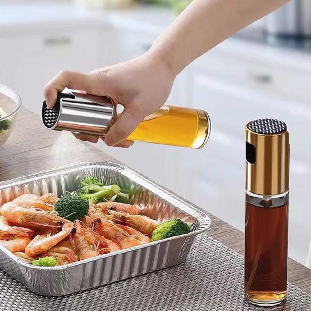 1Pc Glass Olive Oil Sprayer Oil Spray Empty Bottle Vinegar Bottle Oil Dispenser for Cooking Salad BBQ Kitchen Baking in Gravy Boats from Home Garden