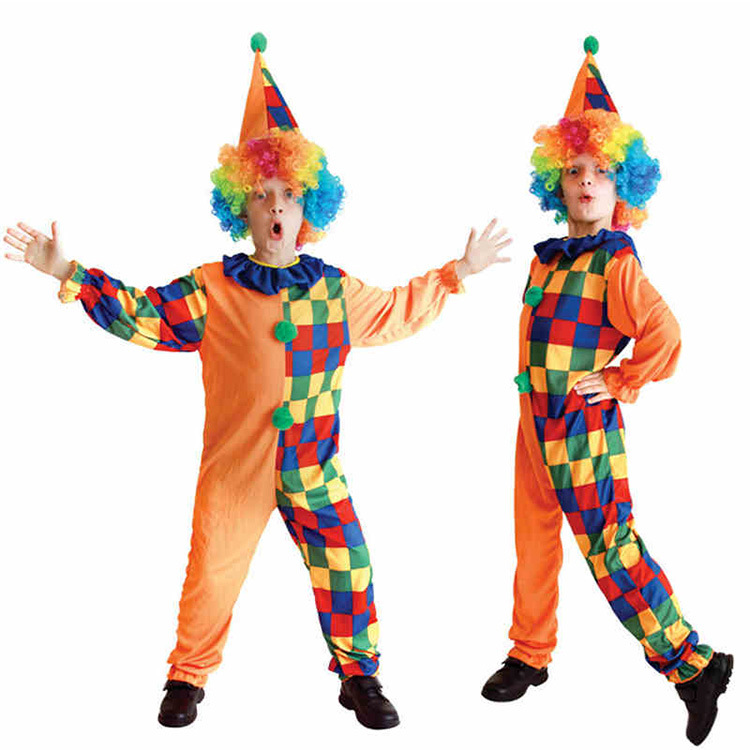 2019 New Kids Carnival Clothing Boy Clown Cosplay Girl Children Halloween Party Role Play Costume Age 3-10 Year