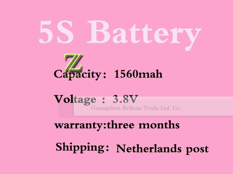 promotion! 1560MAH High Capacity smartphone battery Replacement cell phone for iPhone 5S battery Batterij Bateria 3.8V