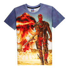 Hot Deadpool 3D Print T shirt Madpool Unisex Summer Marvel Comic Loose Homme Wade s No
