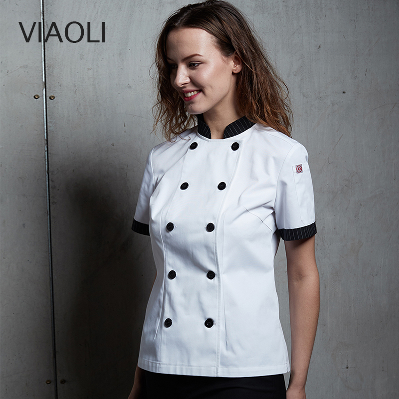 New Chef Restaurant Uniform Short Sleeve Summer Work Clothing Men And Women Kitchen Cook Jacket Chef Master White Coat Uniforms