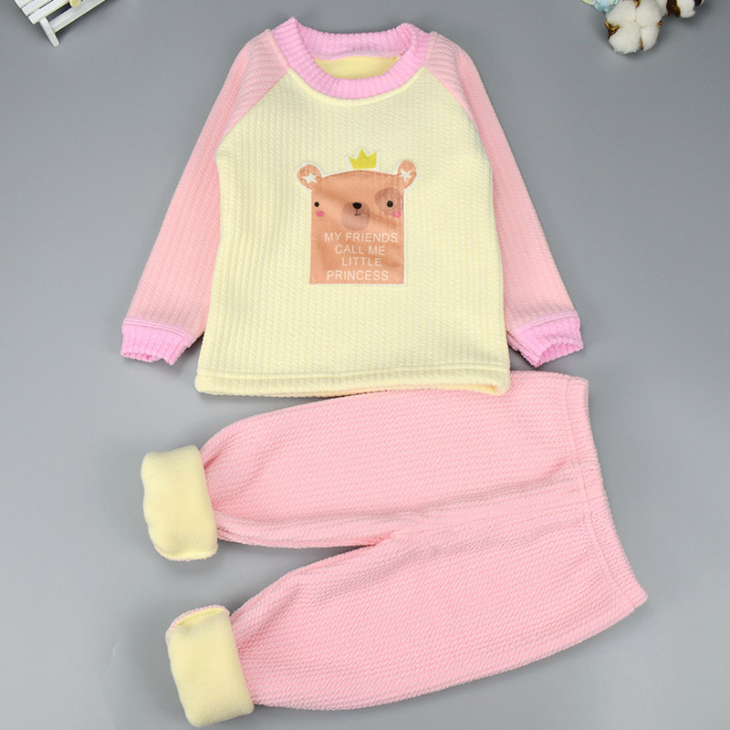 2018 new Top quality winter Pullover Boys Girls Clothes cotton Baby's Sets 18M 24M new dji top