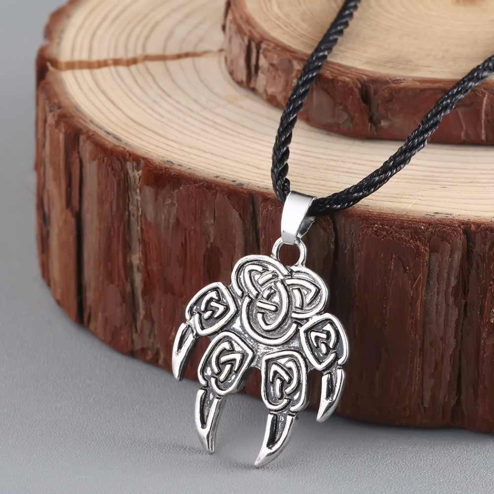 Kالأولي خمر قلادة السلافية Veles الله رمز Warding الدب باو قلادة تميمة تميمة فايكنغ قلادة القلائد مجوهرات