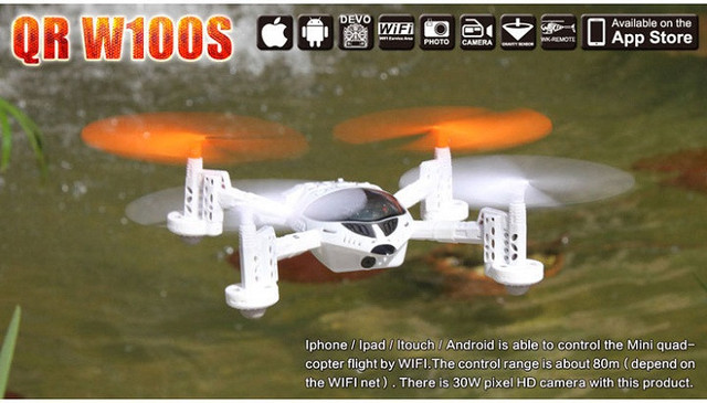 Walkera QR W100S WIFI FPV RC Quadcopter BNF Sin Control Remoto IOS/Andriod Control de Envío Gratis