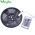 Waterproof 3528 RGB LED Strip 300Led 5M SMD+ 24key Mini IR Remote Controller DC 12V Changeable Strip Light Free Shipping