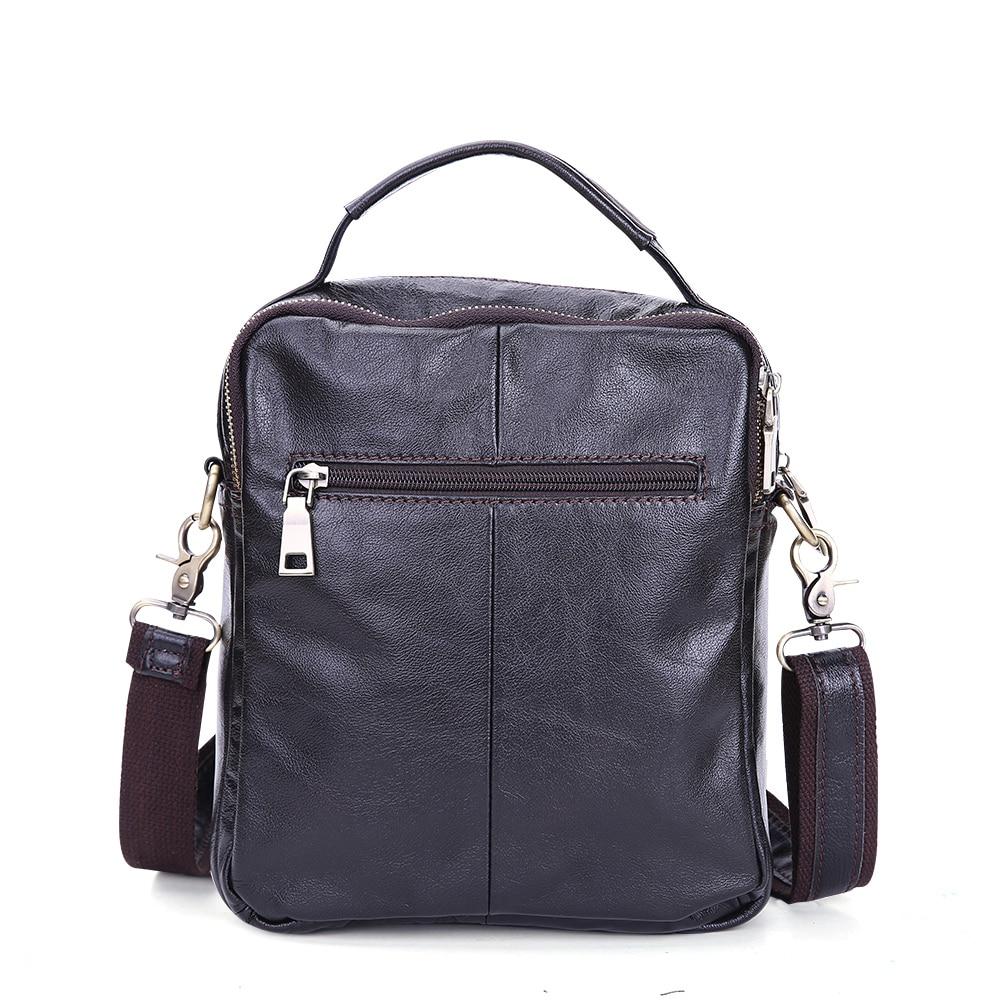 Мужские сумки через плечо из натуральной кожи Повседневная Сумочка с короткими ручками через плечо мужские сумки подарок