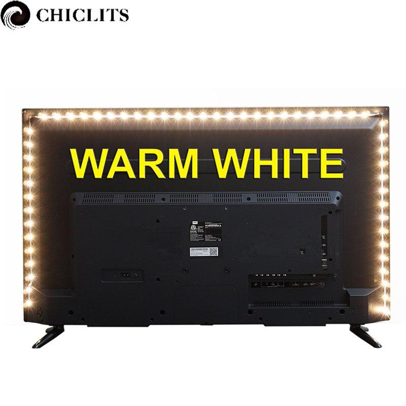 DC5V USB LED Strip Light TV Led Backlight Led Strip USB Power Supply SMD <font><b>3528</b></font> Stripes Tira Led Tape Lighting 50cm,1m,2m,3m,4m,5m