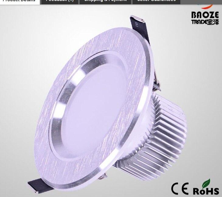 Затемнения встраиваемые светодиодные светильники 9 Вт светильники Светодиодные пятно света светодиодные потолочный светильник для ванной...