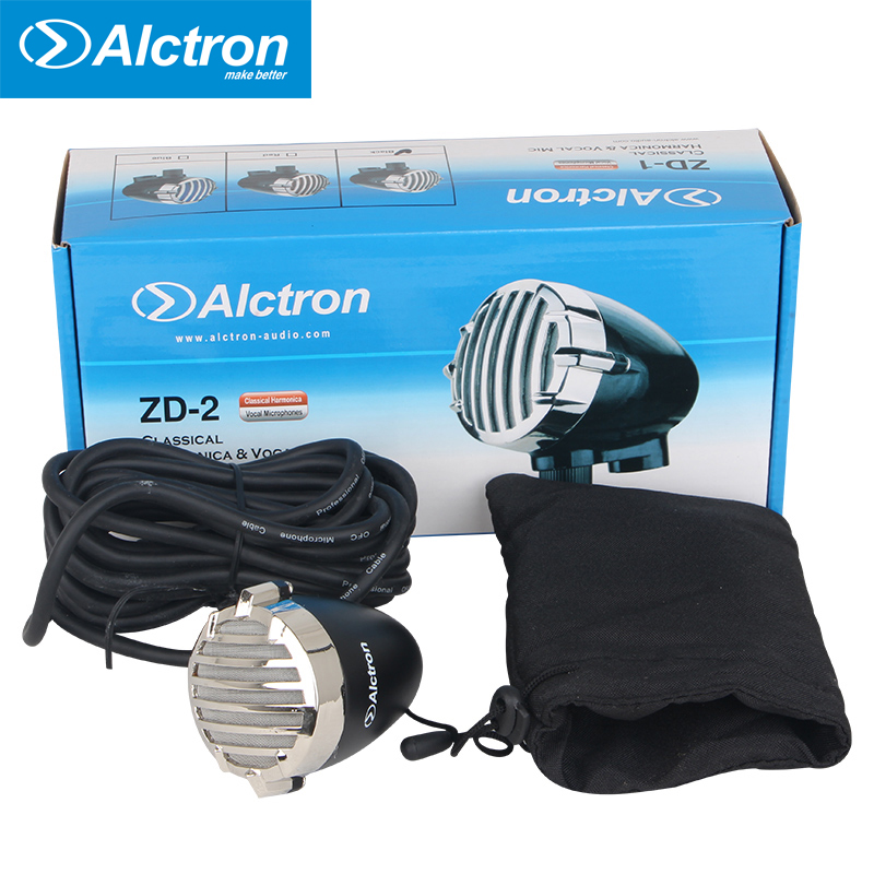 Alctron ZD 2 classical harmonica microphone vocal microphone compact and exquisite dynamic microphone for stage performance
