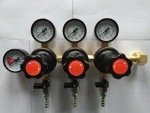 Three CO2 Gauge Regulator with  Checkvalves, Homebrew CO2 Regulator, 0~2000psi, 0~60psi, CGA320