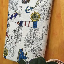 Patchwork Cotton Linen Fabric Printed Sewing Quilting Canvas Material For DIY Textile Tablecloth