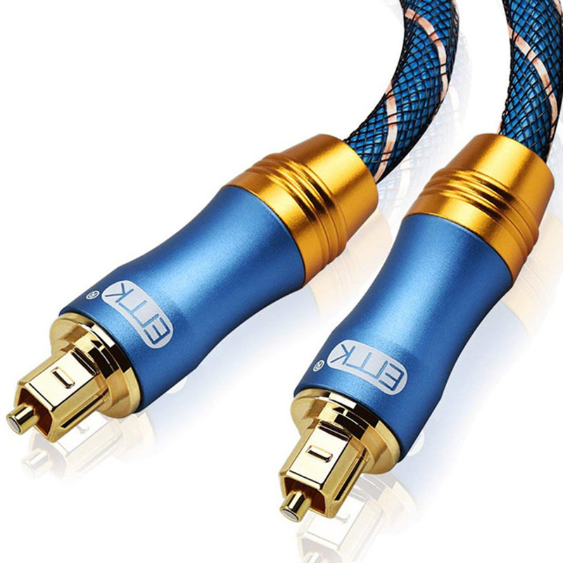 New 5.1 Digital Sound SPDIF Optical Cable Toslink Cable Fiber Optical <font><b>Audio</b></font> Cable with braided <font><b>jacket</b></font> OD6.0 1m 1.5m 2m 3m 5m image