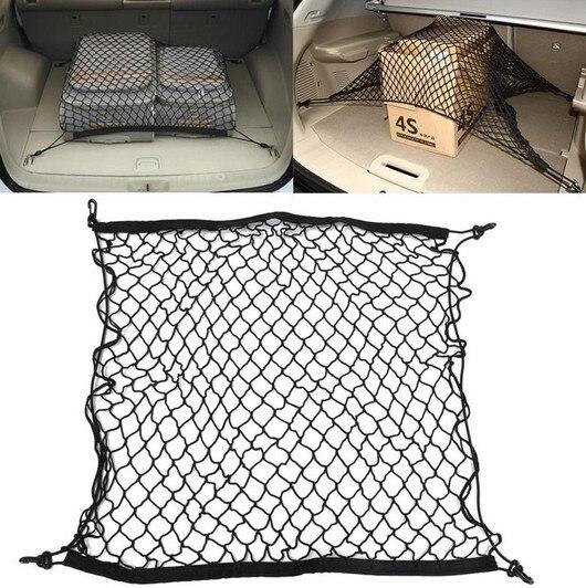 Для Hyundai Creta IX25 IX35 I30 i40 Tucson Solaris Santa Fe для хранения багажа в багажник автомобиля Грузовой Органайзер нейлоновая эластичная сетка