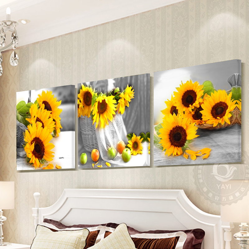 3 Piece Wall Art Pictura Tablou Tablouri pentru Living Room Flowers Acasă Decorare Imagine Canvas Art Prints Wall Painting