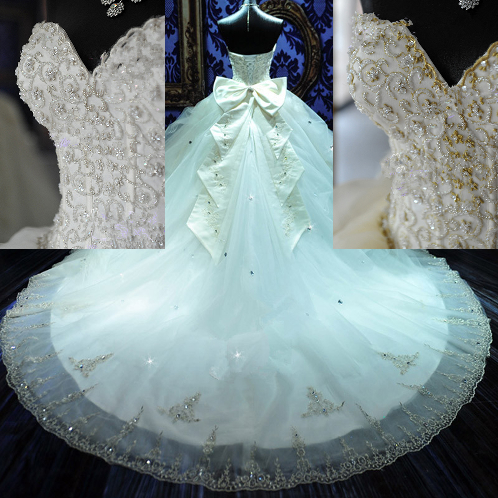 China bordado del corsé del vestido de bola vestidos de lujo perlas ...