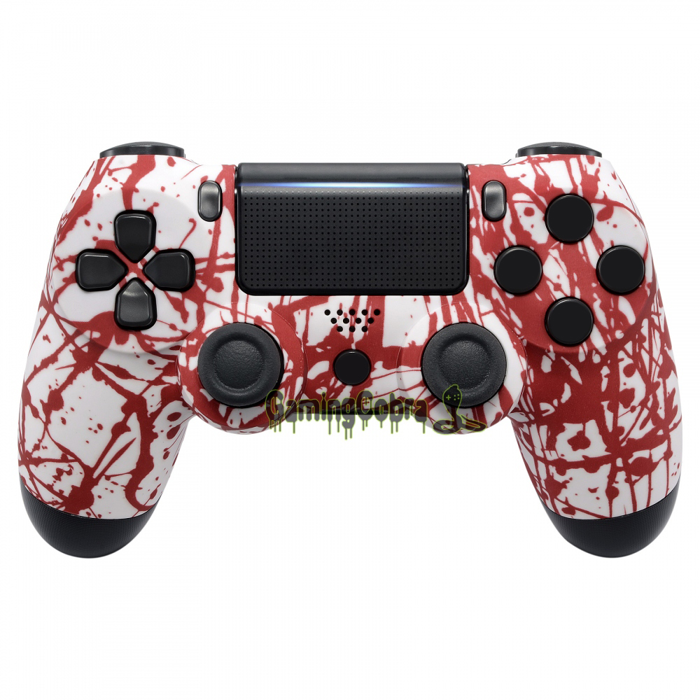 Blood Soft Touch Grip Housing <font><b>Shell</b></font> Case for PS4 Pro PS4 Slim Remote Controller <font><b>JDM</b></font>-040 <font><b>JDM</b></font>-050 <font><b>JDM</b></font>-<font><b>055</b></font> #SP4FS14 image