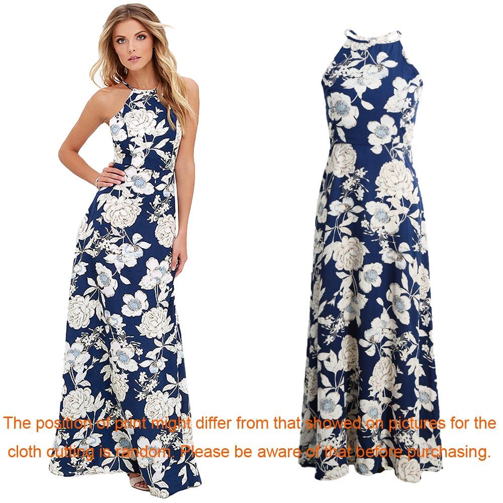 21f14c486aa6b Maxi Long Dress 2019 Summer Dresses Women Floral Print Boho Dress Plus Size  5XL Sleeveless Beach Holiday Slip Dress female gowns