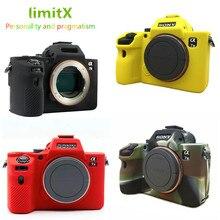 حافظة كاميرا حماية من السيليكون لهاتف سوني ألفا A7 II A7R II A7S II A7 III A7R III IV A7M2 A7M3 A7RM3 A7RM4