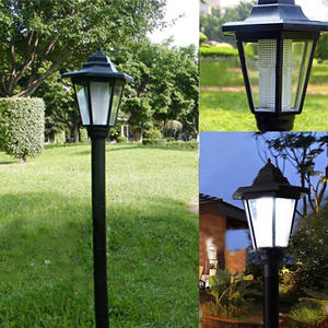 Outdoor Lamp Light Fence Wall-Landscape-Mount Led-Path Solar-Power Water-Resistant Garden