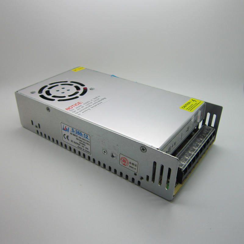 AC 100-240V 12V 30A 360W Switching Power Supply Adapter LED Strip Light Transformer 12V for 3D Printer Part ac 85v 265v to 20 38v 600ma power supply driver adapter for led light lamp