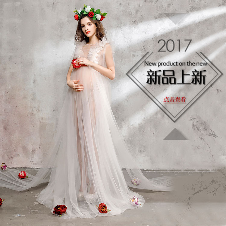 757 Europe and America maternity clothes pregnant women photo clothing Mommy Photo Clothing Fashion Pregnant Women Dress