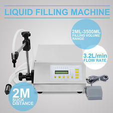 Commercial Semi Automatic Water CNC Desktop Liquid Filling Machine 5-3000ML Digital Control Pump Small Liquid Filler10-30pcs/min