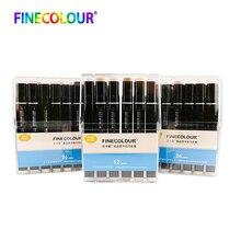 Finecolour EF102 Alcohol Gebaseerd Lnk Manga Tweekoppige Borstel Marker 12/24/36 Set Professionele Art Markers Pen Voor art Supplies