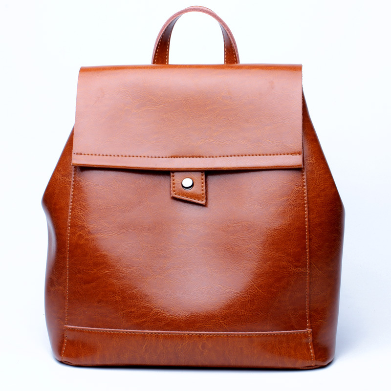 Famous Brand Women Backpack Vintage Genuine Leather Shoulder Bag vintage School Backpacks For Teenage Girls Designer Brand C363