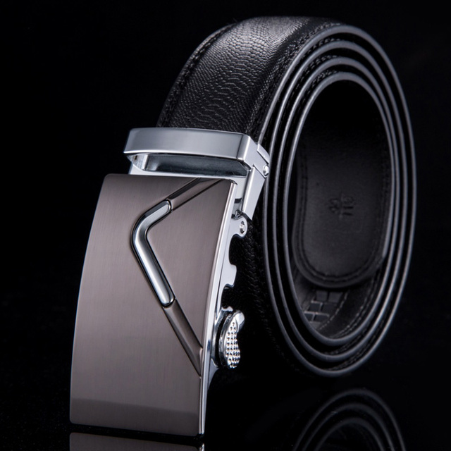 2015 Fashion belt men high quality cinto genuine leather belts for men strap male metal automatic buckle belts WN010