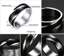 Fashion Daily Wear Rings Top Quality Lead & Nickel Black Color Stainless Steel Men