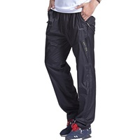 Grandwish Quick Dry Pants Men Double Layer Elastic Waist Exercise Pants Men 3XL Inner Line Mens