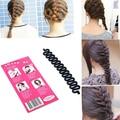 2015 moda francesa cabelo trança ferramentas magia DIY Hair Styling Bun criador torção Curler rolo de cabelo atacado 5I2I