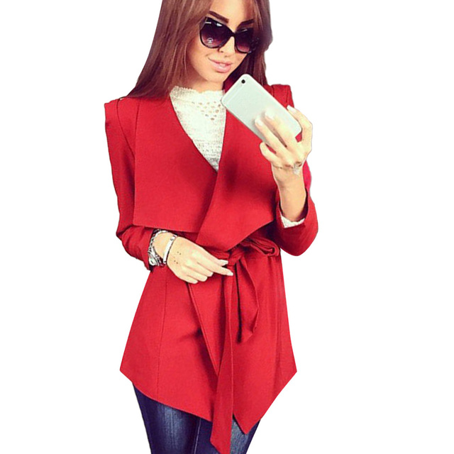 FANALA Women Trench Coat 2017 Autumn Spring Fashion Casual Long Outerwear Clothes Coat For Lady Suit Cardigan Plus Size