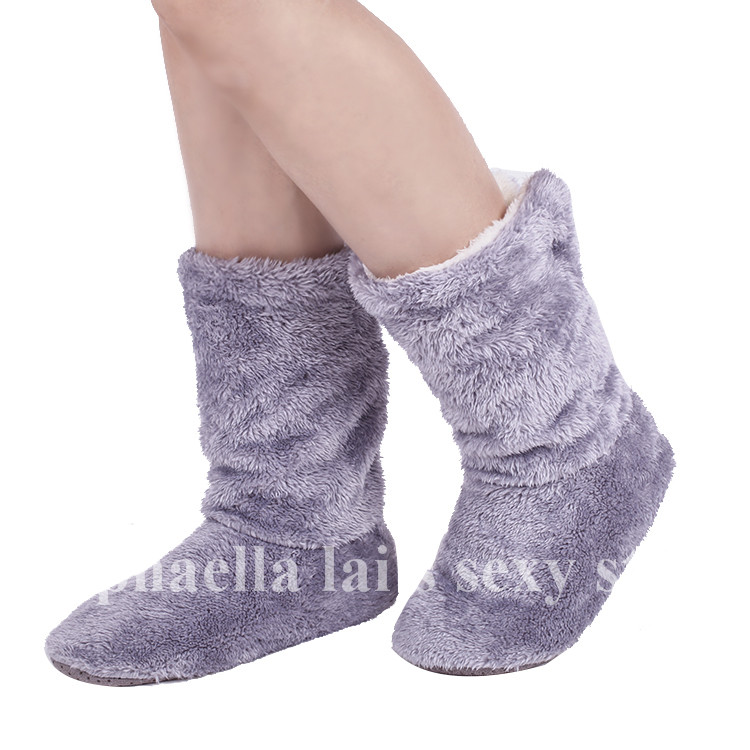 Free Shipping Super Warm Home Shoes Coral Fleece Indoor