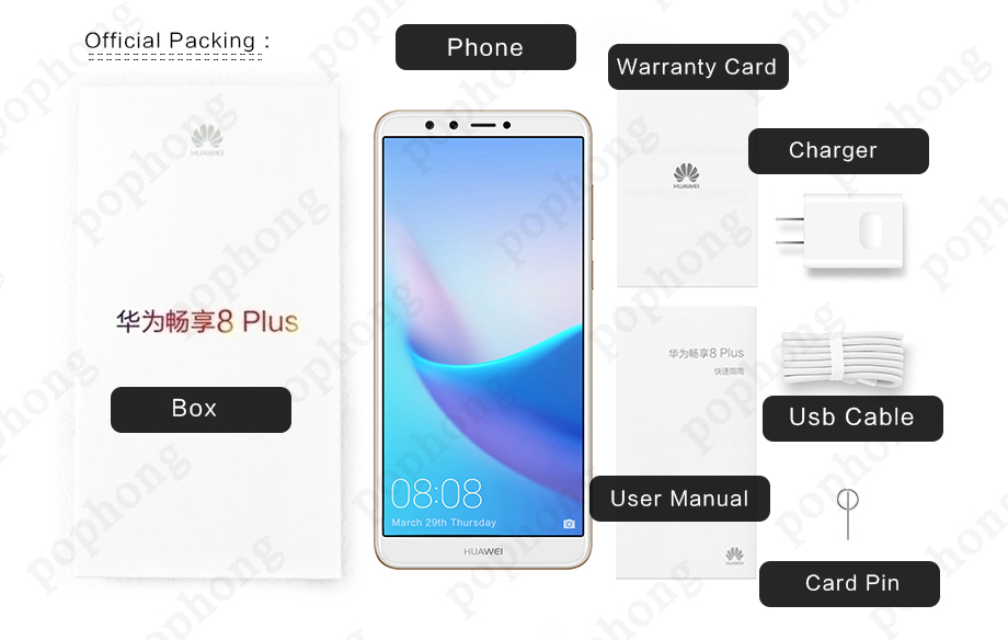 US $159 99  Global Rom Huawei Y9 2018 Android 8 0 Dual Back Dual Front 4  Cameras Phone Kirin659 Octa Core FHD 2160*1080 FingerPrint 16 0MP-in