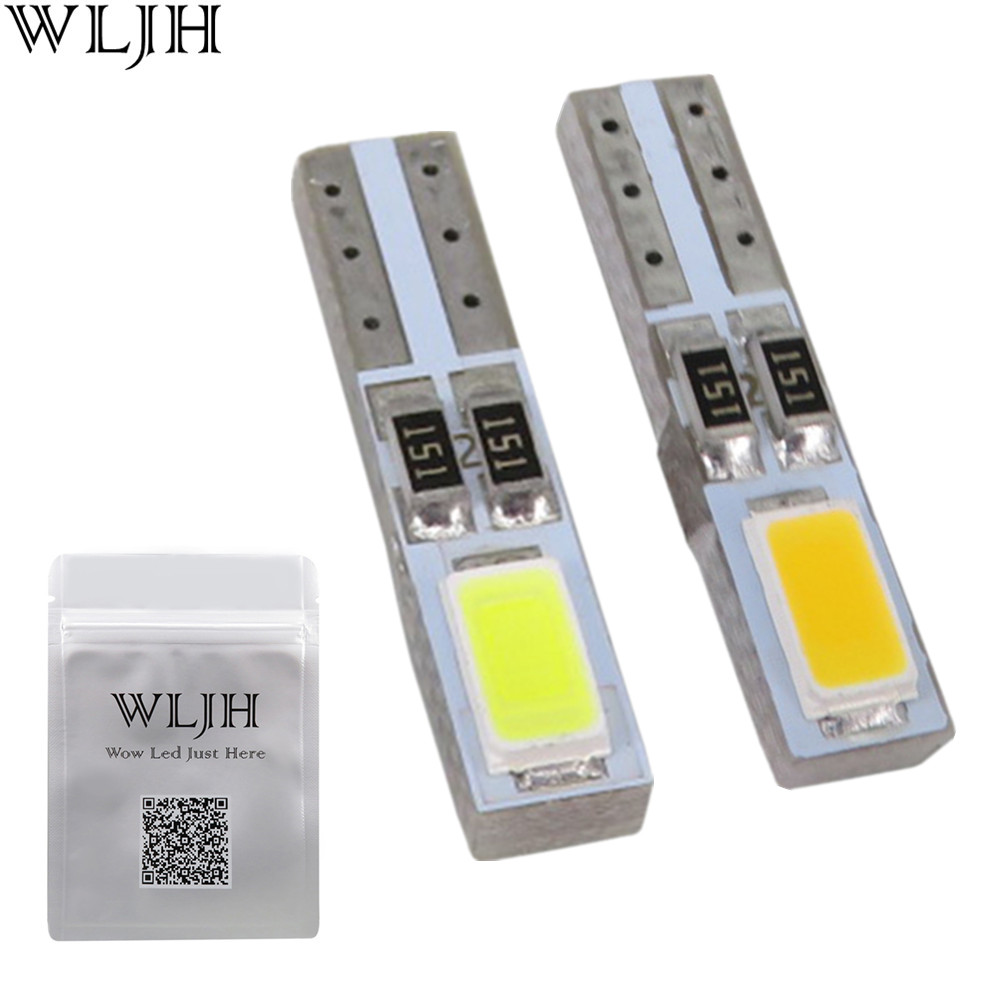 WLJH 10x Led T5 W3W 5730 SMD 37 73 74 Wedge Instrument Panel Speedometer Tacho Gauge Cluster Lamp Dash LED Bulbs Light Universal wella краска для волос color touch relights 60 мл 9 оттенков 00 прозрачный иней