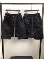 19ss Owen Seak Men Casual Short Harem Gothic Style Men's Clothing Sweatpants Summer Women Loose Black Short Size XL