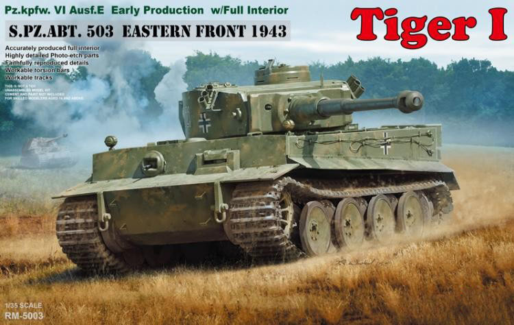 RYE FIELD RMF RM 5003 1 35 Scale Tiger I Pz Kpfw VI Ausf E Early