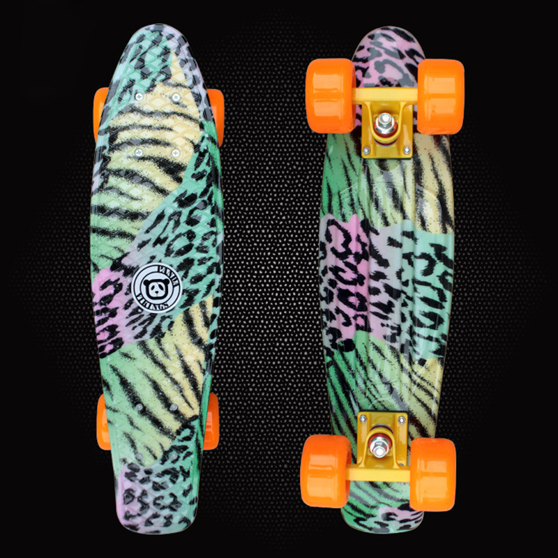 New 2019 Mini Cruiser Space Graphic Printed Plastic Skateboard 22