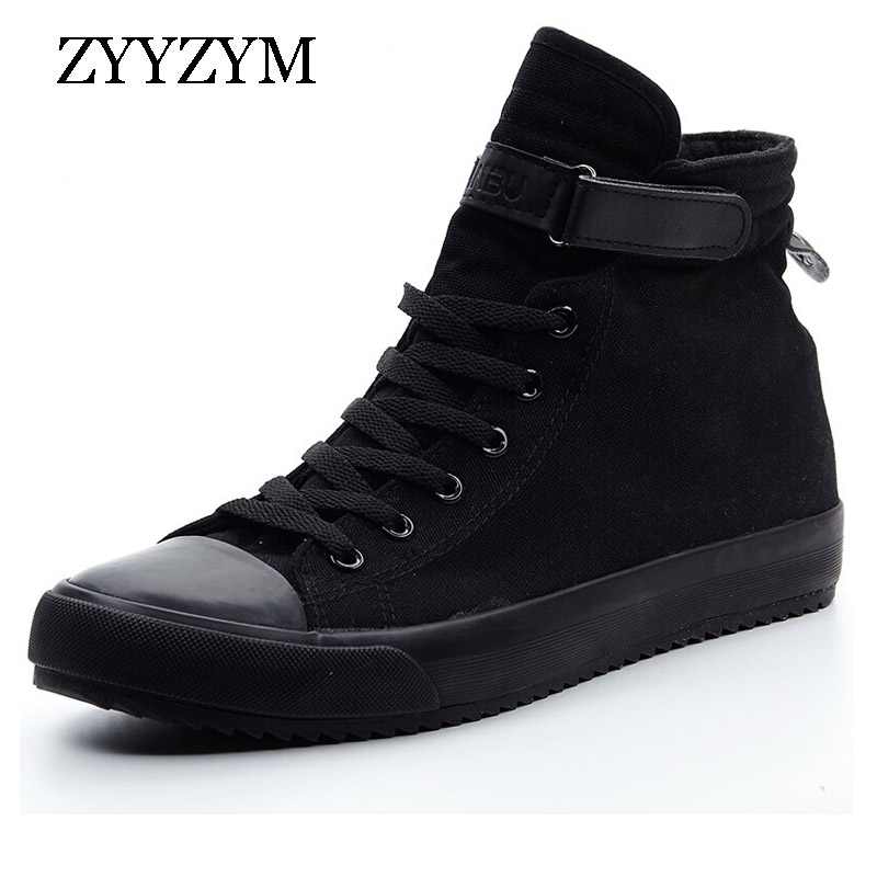 ZYYZYM Men Canvas Shoes Fashion high Top Sneakers Spring 2019 Help Classic Unisex Style Breathable Man
