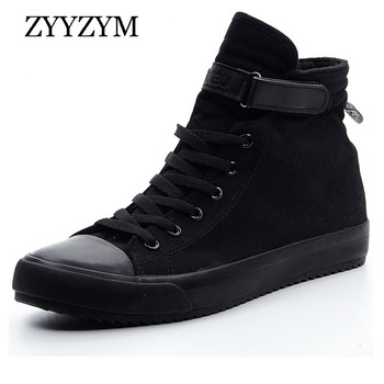 ZYYZYM Men Canvas Shoes Fashion high Top Sneakers Spring 2020 Help Classic Unisex Style Breathable Man Casual Lovers Shoes wen hand painted unisex casual shoes custom design borderlands women men s high top canvas sneakers christmas birthday gifts page 2