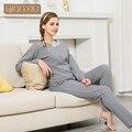 Qianxiu Floral Pijamas mujer 2016 Nee Llegada lencería Sexy mujeres 95% Del Sueño Del algodón Top