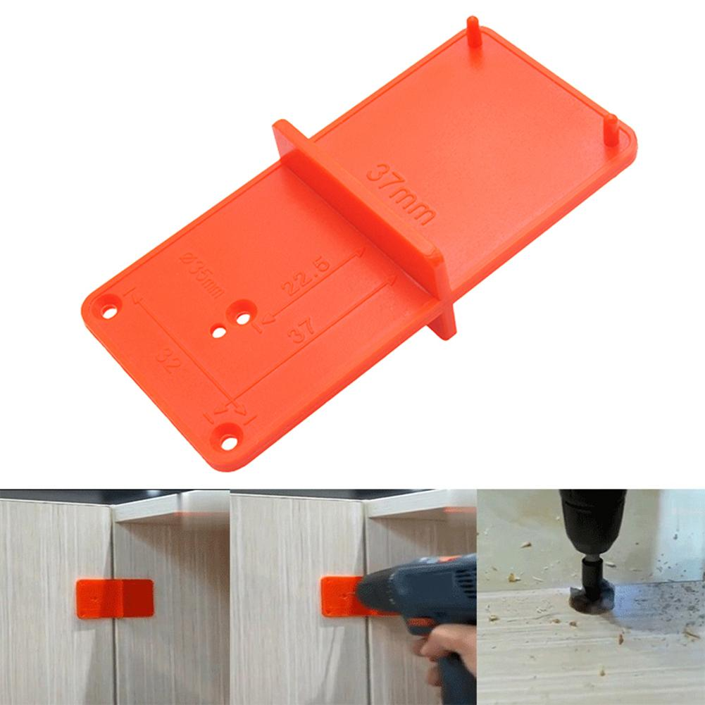 Hinge Hole Drilling Guide Locator Woodworking Tools Hole Opener Template Door Installation Jig Cabinets DIY Tool