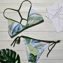 Push Up Leaf Brazilian Bandage Bikini