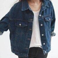 Fashion 2015 Jaqueta Feminina Autumn BF Wind Plus Size All Match Denim Jackets Women Single Breasted