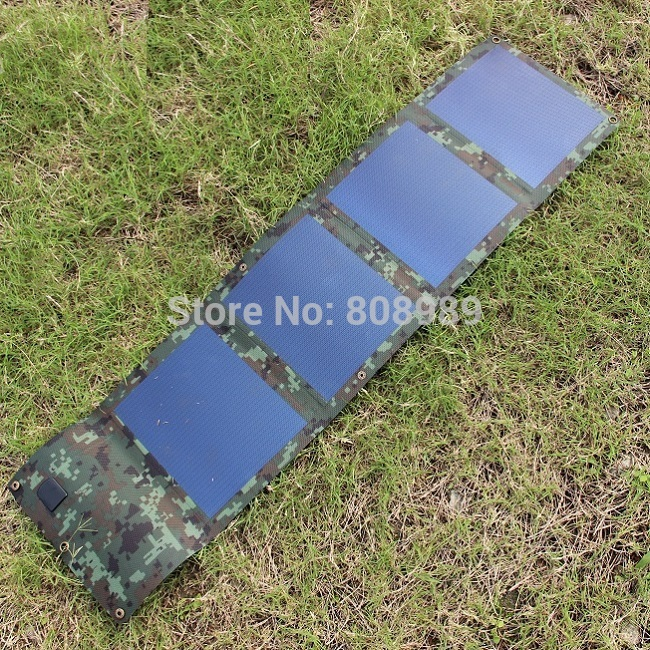 High Quality 6W Foldable Solar Charger Flexiable Solar Panel Battery Charger For iphone Waterproof 2Pcs/lot Free Shipping