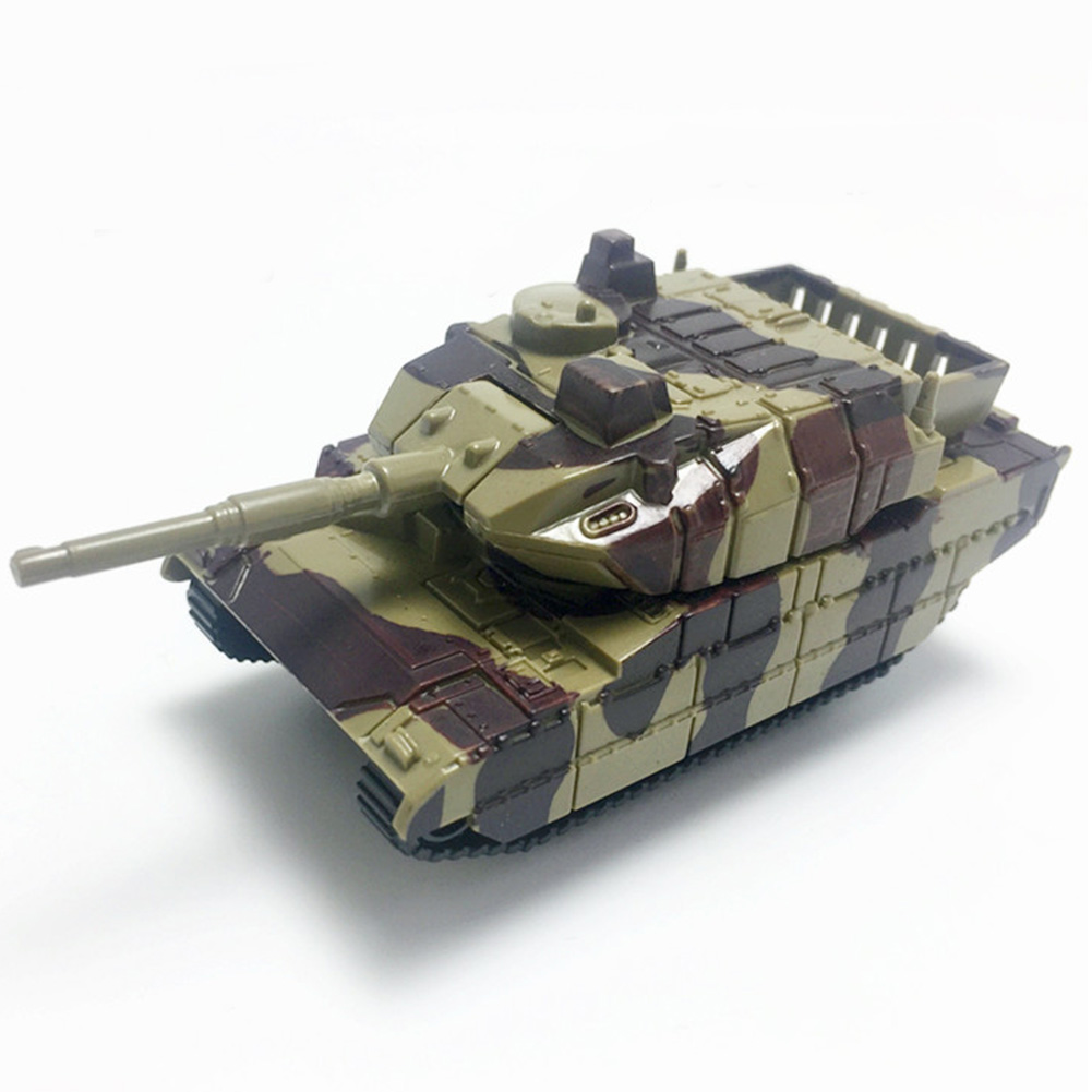 Army Rotated Plastic Model Tank Toy Kids Soldiers Educational Military Vehicles Collection Gifts Children Mini Cannon War