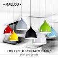 Современные подвесные светильники подвесной светильник алюминиевый красочный E27 подвесной светильник тенты ресторан спальня гостиная оте...